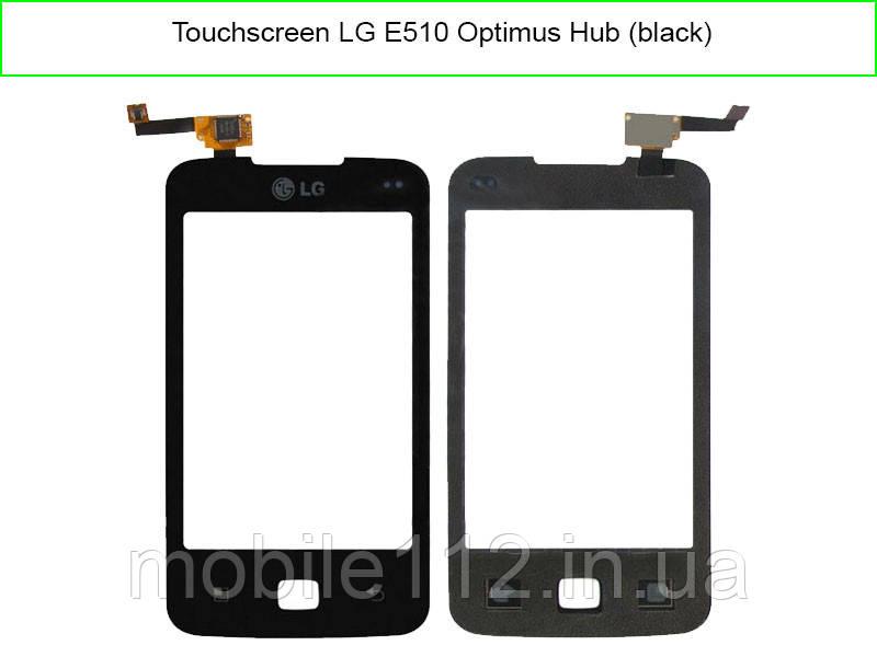 Тачскрин для LG E510 Optimus Hub, чёрный