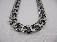 Черненая серебряная цепочка ГАРИБАЛЬДИ (63-110 грамма), фото 1