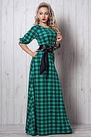 Красивенное платье в модный принт клетка