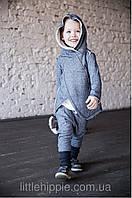 Теплый костюм из хлопка с легким начесом. Унисекс. Размеры: 86, 92 см