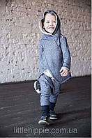 Теплый костюм из хлопка с легким начесом. Унисекс. Размер: 110 см, фото 1
