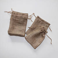 Мешочки для подарков из мешковины (21х15)