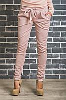 Стильные замшевые брюки беж