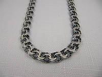 Черненая серебряная цепочка ГАРИБАЛЬДИ (27-47 грамма), фото 1