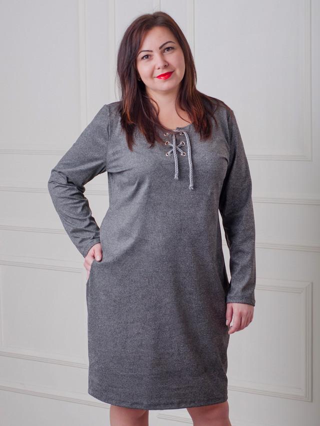 платье из мокрого замша, серое замшевое платье