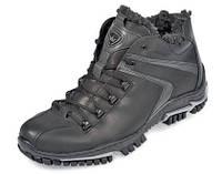 Спортивные мужские ботинки зимние МИДА 14297 из натуральной кожи на шерсти.