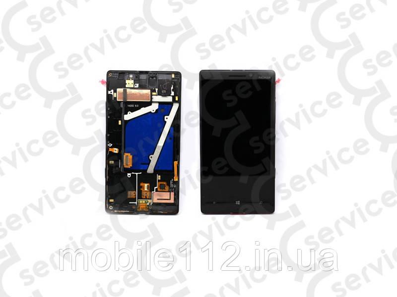 Дисплей для Nokia 930 Lumia + touchscreen, чёрный, с передней панелью, оригинал (Китай)