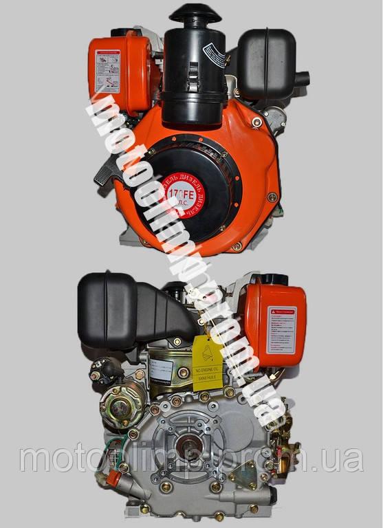 178FE ВИТЯЗЬ (ТАТА) двигатель дизель 6 л.с  (с электростартером) на мотоблок  - MotoOlimp в Запорожье