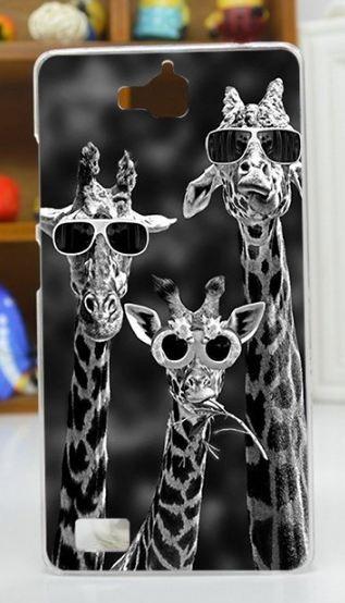 Эксклюзивный чехол для Huawei Honor 3C с рисунком Три жирафа