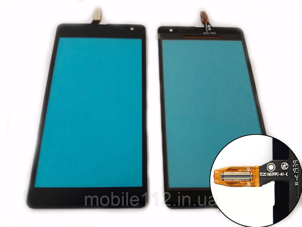 Тачскрин для Microsoft 535 Lumia Dual Sim (CT2C1607FPC-A1-E), чёрный, оригинал (Китай)