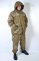 Утепленный камуфляжный армейский костюм Горка - зима (Пиксель)