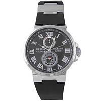 Часы Ulysse Nardin Marine (механика). Silver/Black