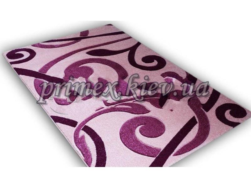 """Рельефный ковер, дорожка Радуга """"Взмах"""", цвет светло-розовый"""
