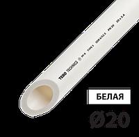 Труба полипропилен PN20 д20 TEBO белая 4/100 м