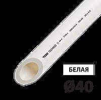Труба полипропилен PN20 д40 TEBO белая 4/20 м