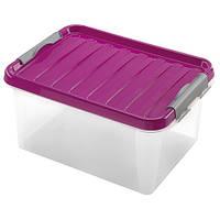 Контейнер для хранения пластиковый 14 л, 39х28,5х18 см, Heidrun 604