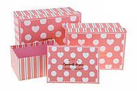 Подарочная коробочка нежно-розового цвета 11.5 x 9.8 x 5.2 см