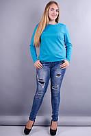 Сафина. Молодежные женские гольфы. Бирюза., фото 1
