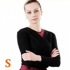 Кофта разогревочная ALLA (30%шерсть, 70%акр, черный, S)