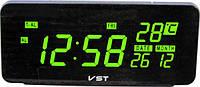 Электронные цифровые настольные часы VST-763W-4
