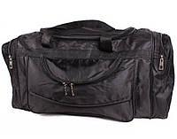 Дорожная сумка и сумка для фитнеса тканевая черная