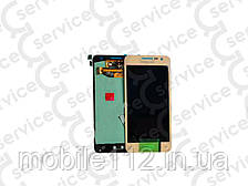 Дисплей для Samsung A300F Galaxy A3/ A300FU/ A300H (2015) + touchscreen, золотистый, оригинал (Китай)