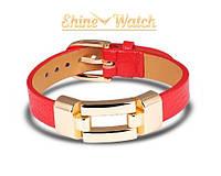 Кожаный браслет (красный)