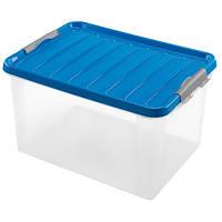 Контейнер для хранения пластиковый 31 л, 48х35х25 см, Heidrun 605