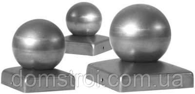 Металлическая заглушка 80х80 с шаром Ø80, фото 2