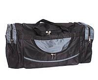 Дорожная сумка и сумка для фитнеса тканевая серая