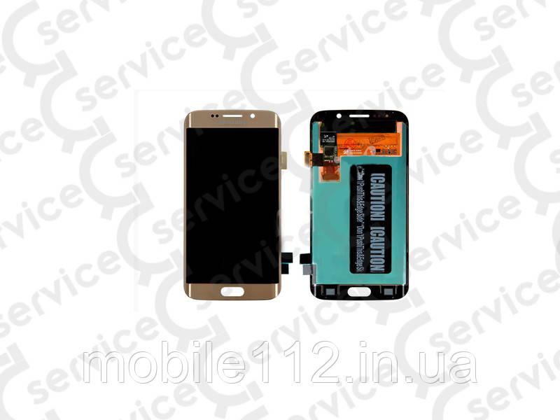 Дисплей для Samsung G928 Galaxy S6 EDGE+ + touchscreen, золотистый, оригинал (Китай)