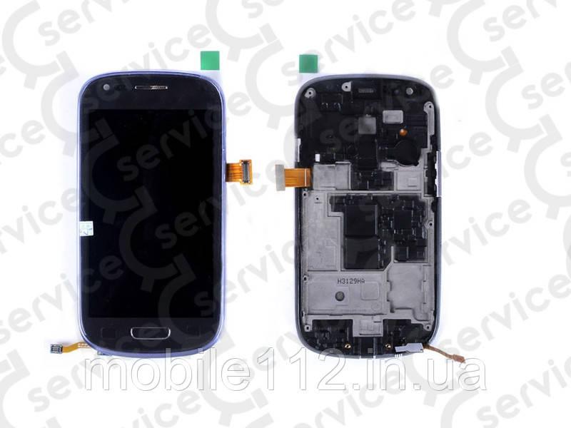 Дисплей для Samsung i8190 Galaxy S3 mini + touchscreeni, чёрный, с передней панелью