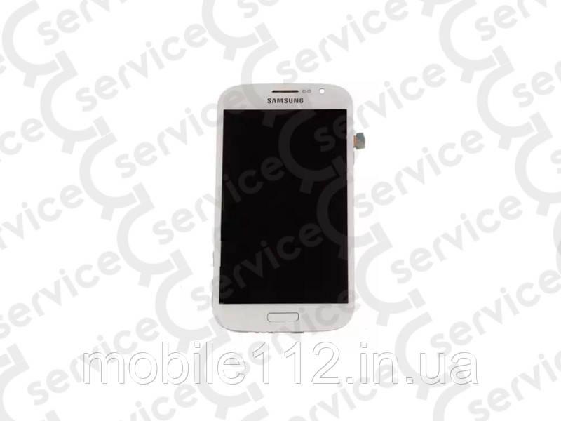 Дисплей для Samsung i9082 Galaxy Grand Duos + touchscreen, белый, с передней панелью