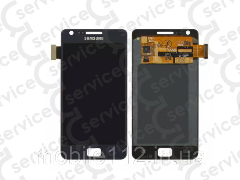 Дисплей для Samsung i9105 Galaxy S2 Plus + touchscreen, синий