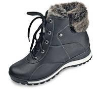 Ботинки женские кожаные МИДА 24436 черные
