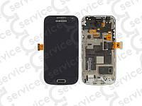 Дисплей для Samsung i9190 Galaxy S4 mini/ i9192/ i9195 + touchscreen, синий, оригинал (Китай)