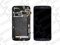 Дисплей для Samsung i9200 Galaxy Mega 6.3/ i9205 + touchscreen, синий, с передней панелью