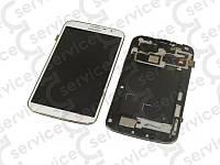 Дисплей для Samsung i9200 Galaxy Mega 6.3/ i9205 + touchscreen, белый, с передней панелью