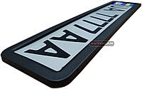 Рамка номерного знака из нержавеющей стали  ✓ цвет: черный мат