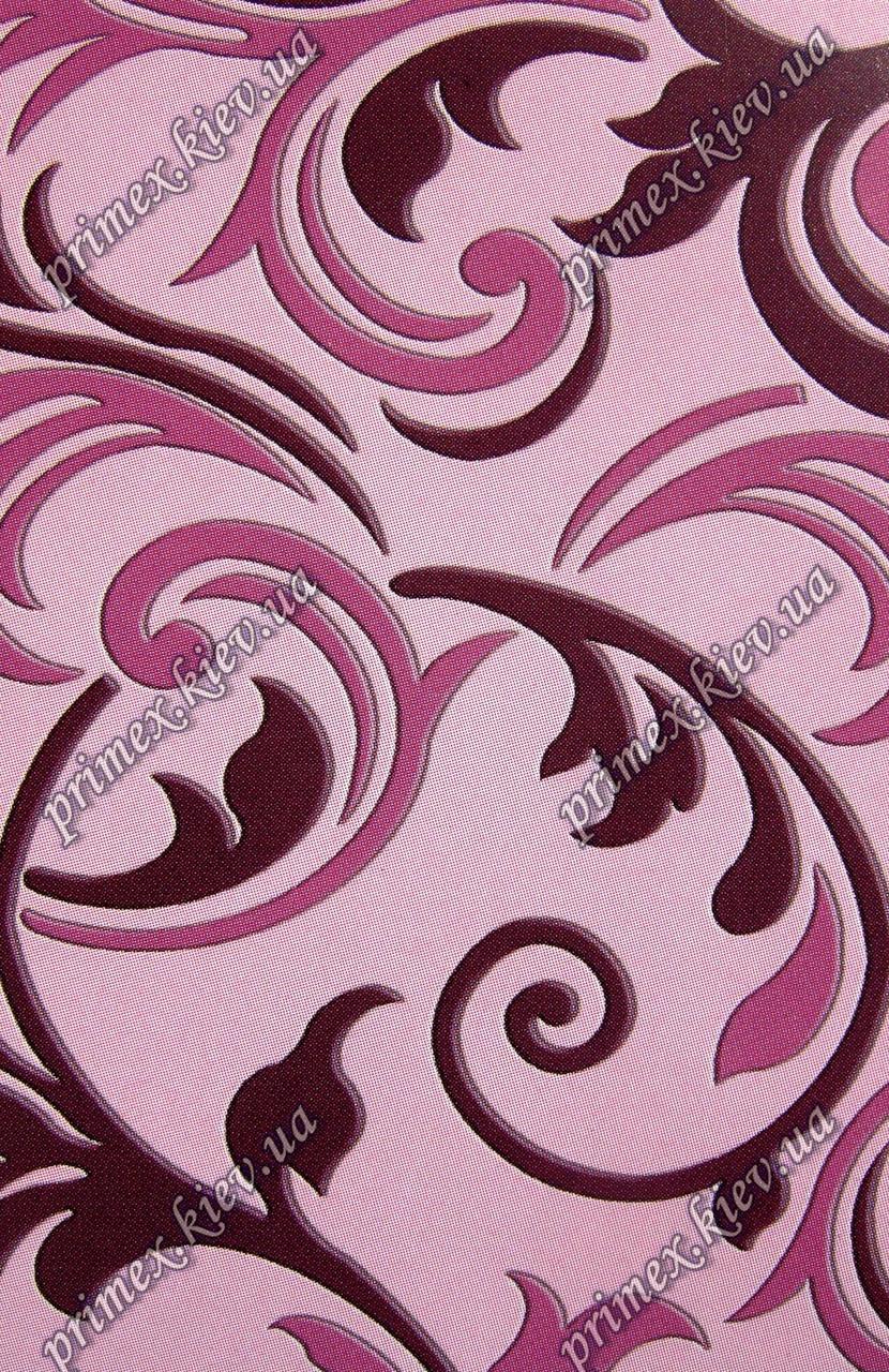 """Рельефный прямоугольный ковер, дорожка Радуга """"Перышки"""", цвет светло-розовый"""