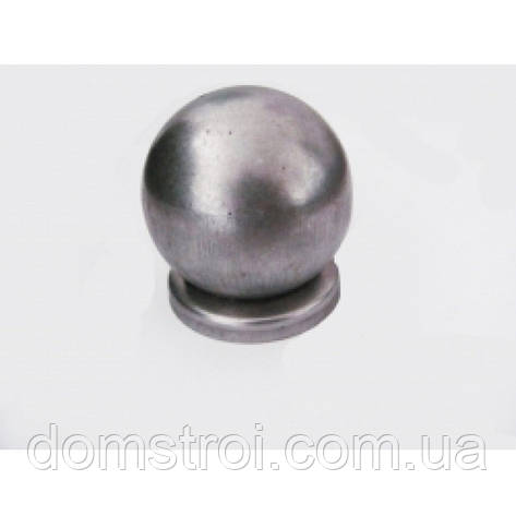 Круглая металлическая заглушка Ø62 с шаром Ø60, фото 2