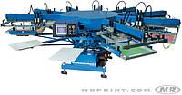 Карусельная печатная машина трафаретной печати по футболкам и крою M&R DIAMONDBACK