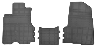 Коврики в салон для Honda CR-V 02-07 (комплект - 3 шт) 1008073