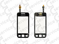 Тачскрин для Samsung S5250 Wave 525/ S5750 Wave 575, чёрный big ic(5mm)/ small ic(4mm)