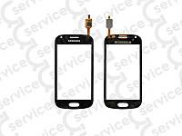 Тачскрин для Samsung S7562 Galaxy S Duos/ S7560 Galaxy Trend, чёрный big ic(6mm)/ small ic(5mm)