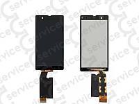 Дисплей для Sony C6602 L36h Xperia Z/ C6603 L36i/ C6606 L36a + touchscreen, чёрный, оригинал (Китай)
