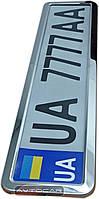 Рамка номерного знака из нержавеющей стали ✓ цвет: хромированный