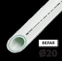 Труба PPR PN20 стекловолокно 20 TEBO белая 4/100 м