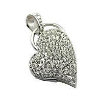 USB флешка влюбленное сердце стразы 16 гб