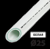 Труба PPR PN20 стекловолокно 25 TEBO белая 4/80 м
